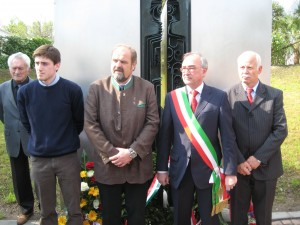 Bruno Violin (Argante), Luca Moimas, assessore Comune di Maria Saal (A), Alviano Scarel, Bojan Cesnik di Pirano (Slo)