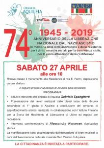 74 anniversario_liberazione 2019 definitivo sabato 27.4.2019 Aquileia